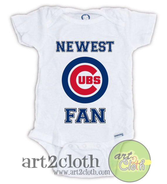 f9993f07 Chicago CUBS FAN Baby Onesie //Price: $14.00 // #onlineshop | Baby Onesies