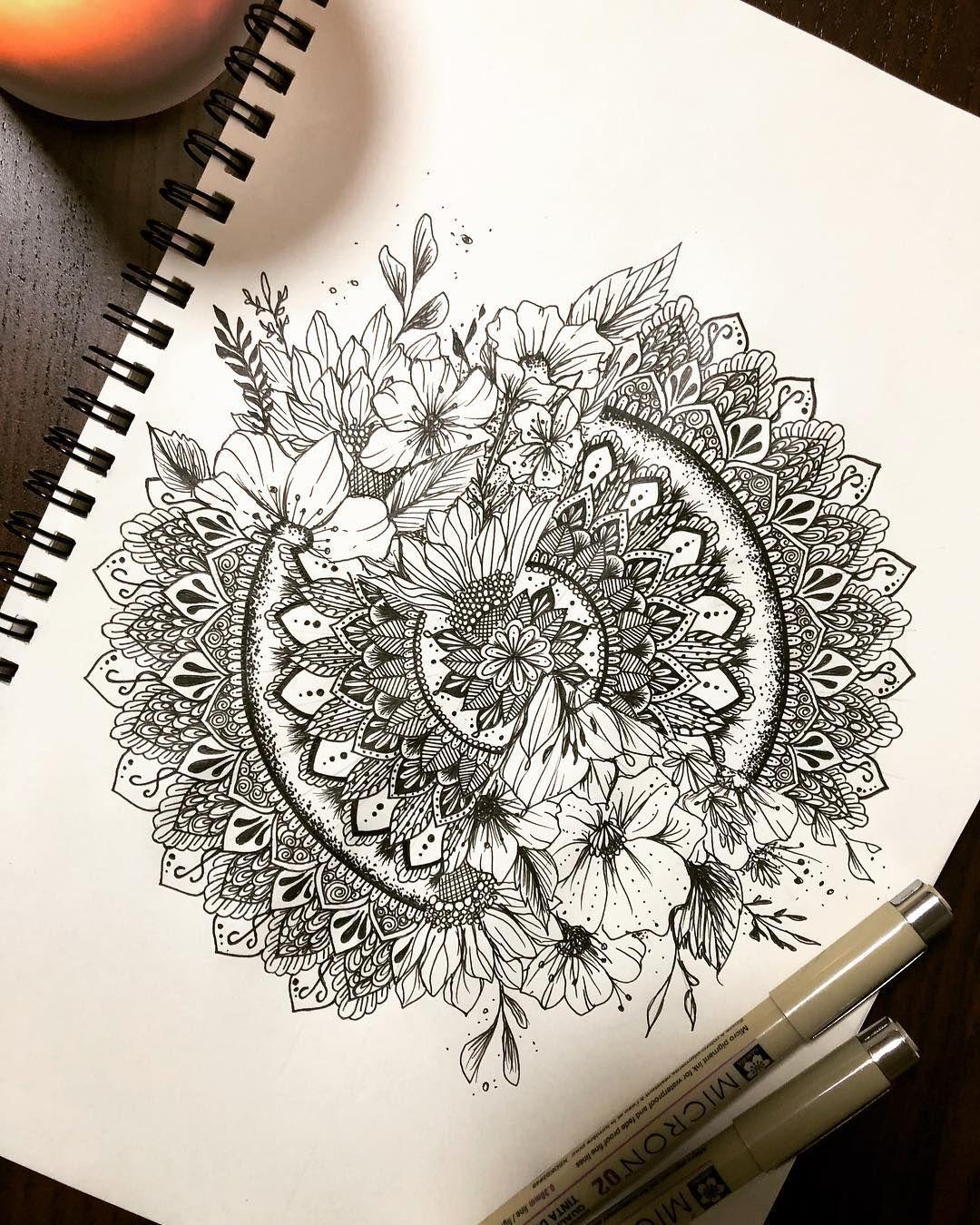 "Photo of ✨🦋 on Instagram: ""✨💫🌸🌼🌺 . . #mandala #zen #zentangle #flowers #drawing #mandalatattoo #tattoo #sketch #drawing #instagood #picoftheday #art #dibujo #flores…"""