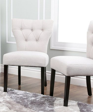 This Gray Kara Tufted Dining Chair - Set of Two is perfect! #zulilyfinds