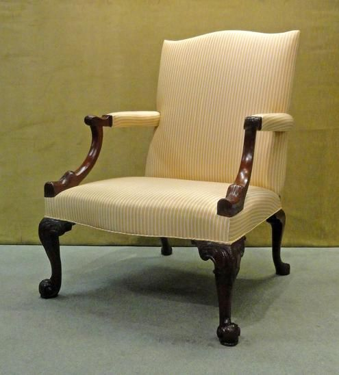 C1790 A George Iii Mahogany Library Armchair Circa 1790 Height 39