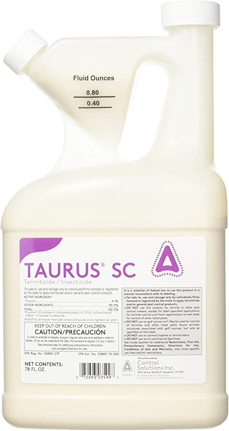 Amazon Com Control Solutions 82003599 Taurus Sc Termiticide Insecticide Home Pest Lures Garden Outdoor In 2020 Termite Treatment Odorous House Ants Insecticide