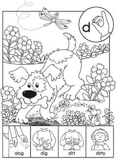 Coloring Pages Sign Language Letter D - Tripafethna