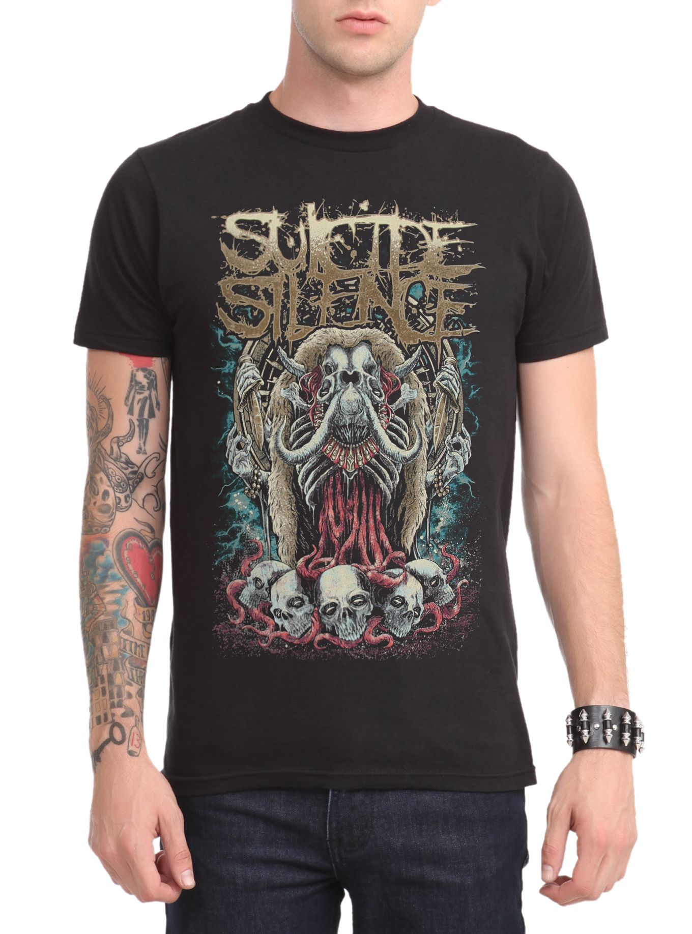Suicide Silence Elephant T-Shirt   Hot Topic