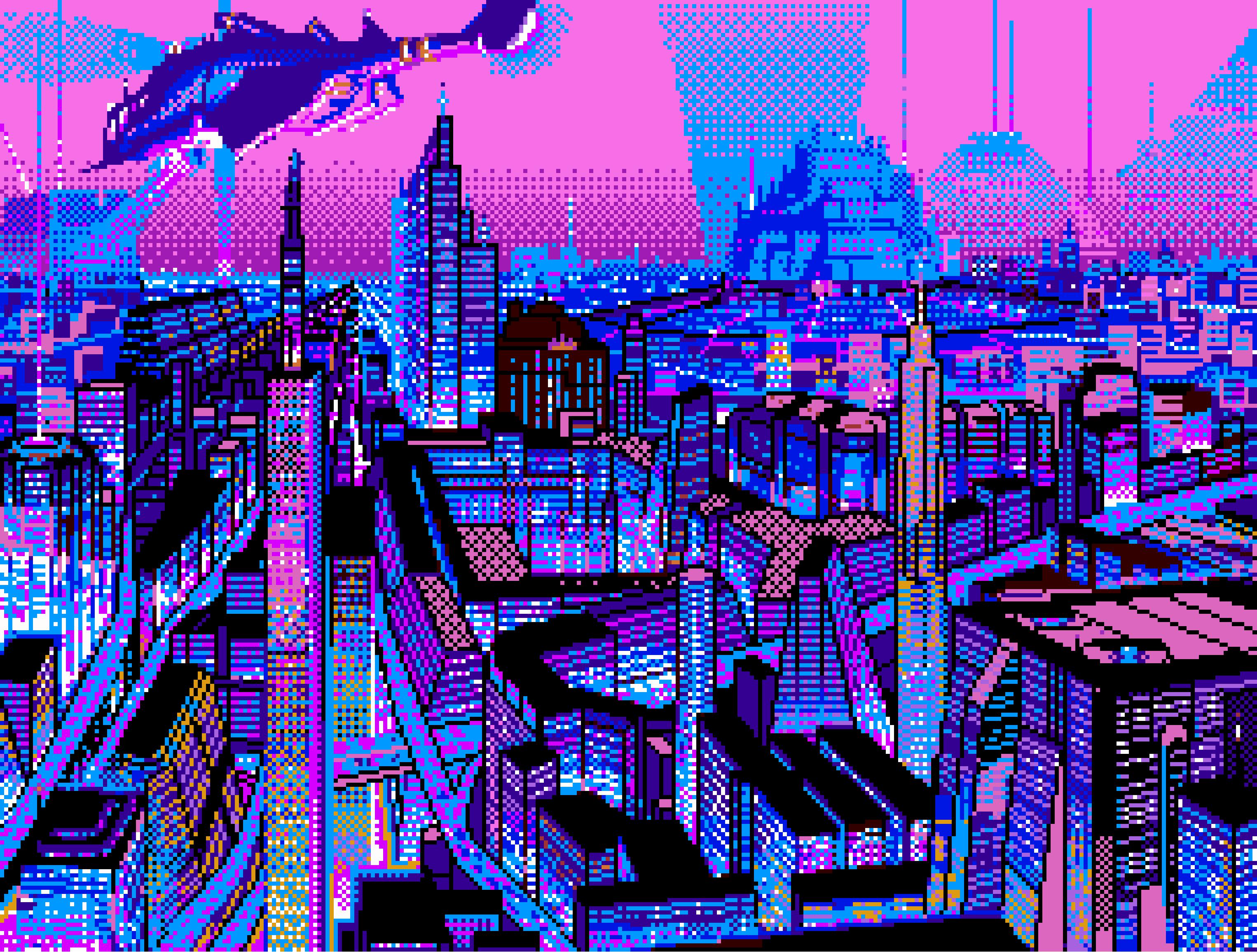 2D Pixel Art Pixel art, Vaporwave, Glitch art