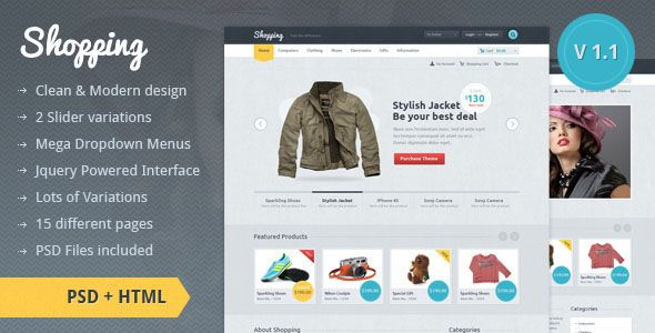 20 Free And Premium E Commerce Shop HTML Website Templates Layouts