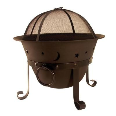 Catalina Creations Celestial Cauldron Fire Pit Ad364 At The Home Depot Iron Fire Pit Cast Iron Fire Pit Wood Burning Fire Pit