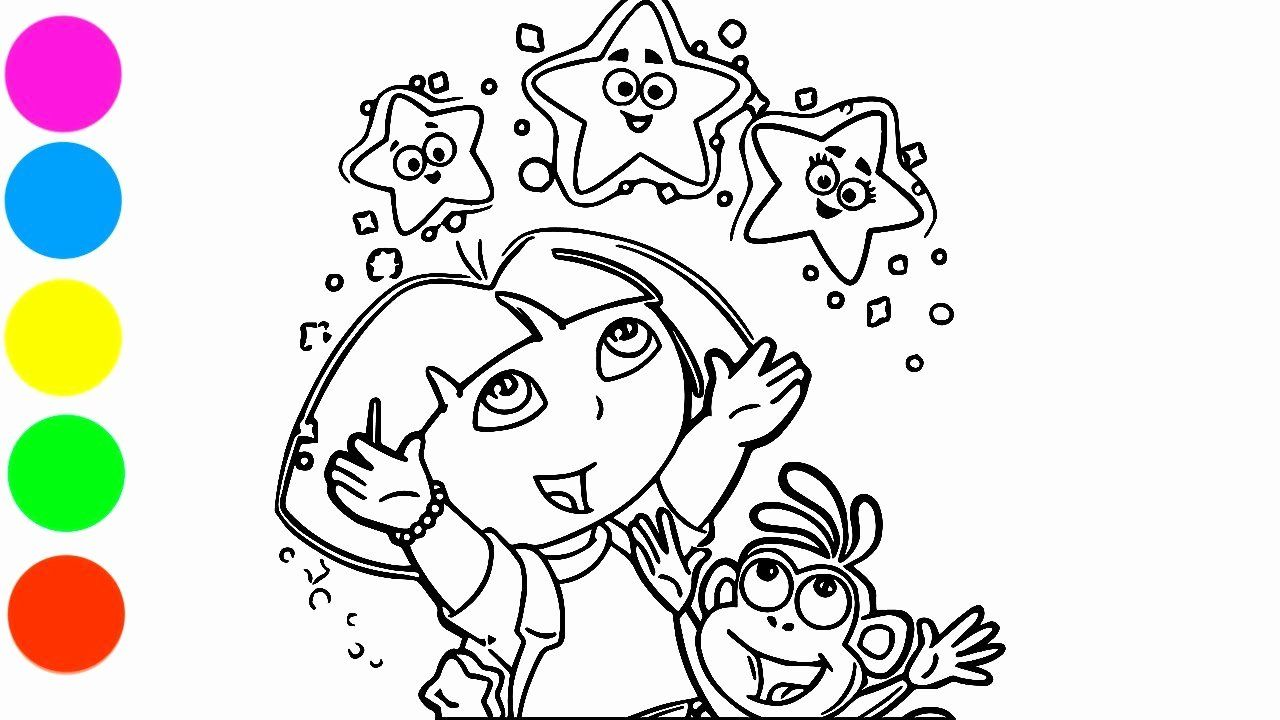 - 28 Dora The Explorer Coloring Page In 2020 Star Coloring Pages
