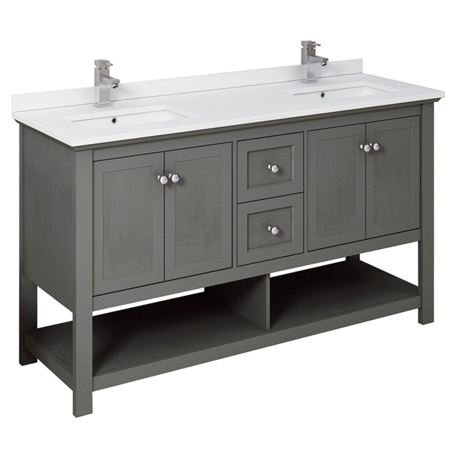 Wood Veneer Traditional Double Sink