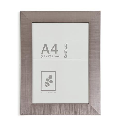 A4 Executive Certificate Frame - Silver Look | Certificate frames ...