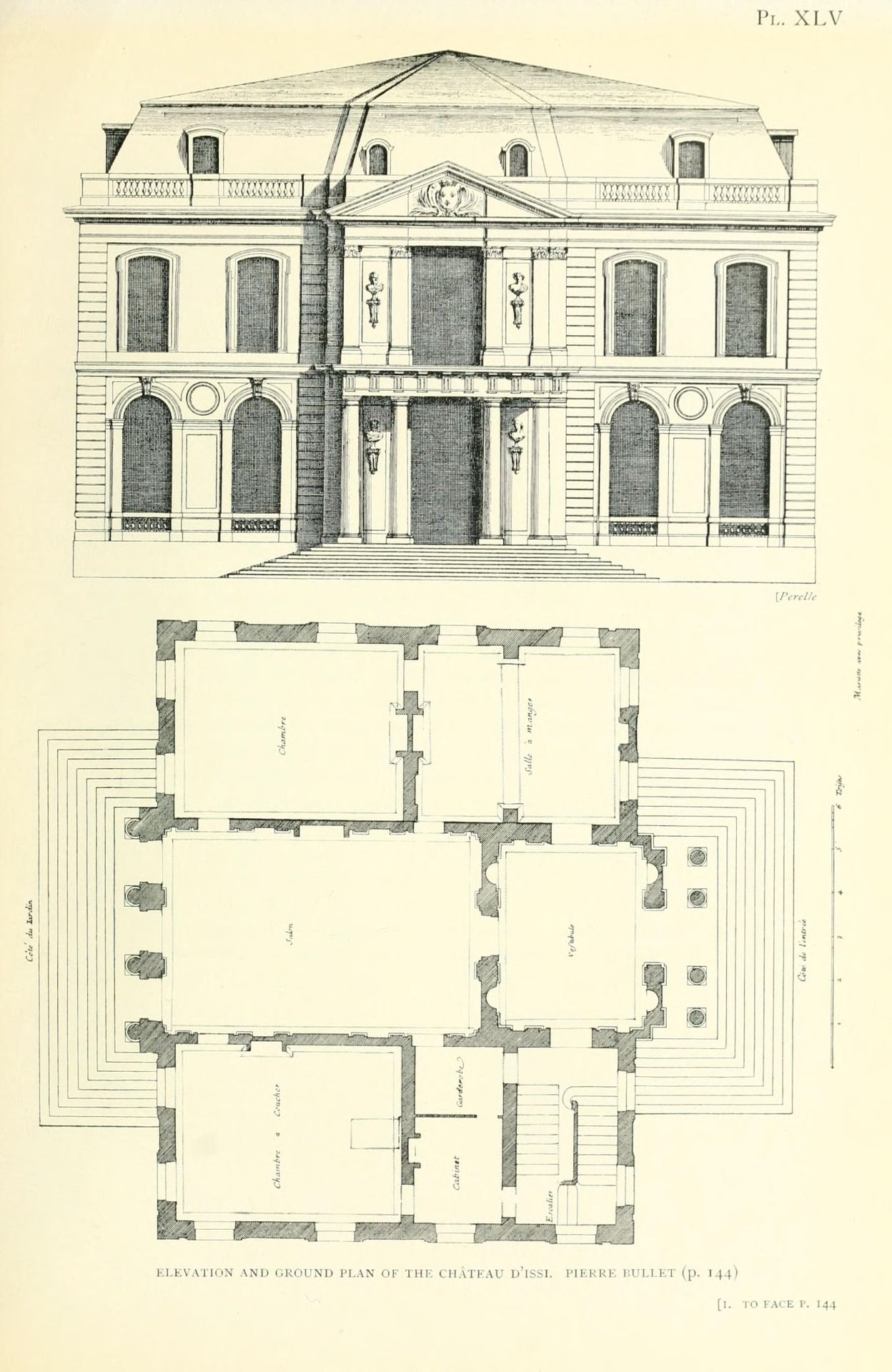 Bullet S Elevation And Plan Of The Chateau D Issy Architectural Floor Plans Architecture Mapping How To Plan