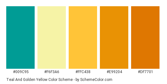 Download Teal And Golden Yellow Color Scheme Consisting Of 009c95