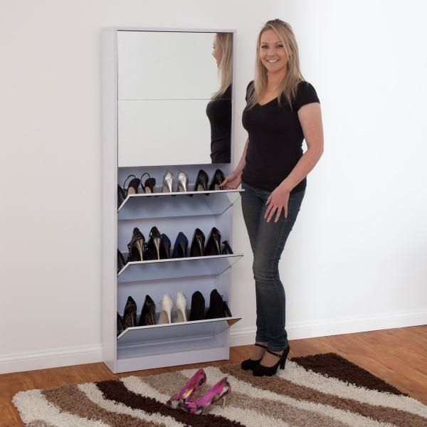 buy mirrored shoe cabinet stylish and economical storage solution for your shoes and allowing you to see them before you step out the door