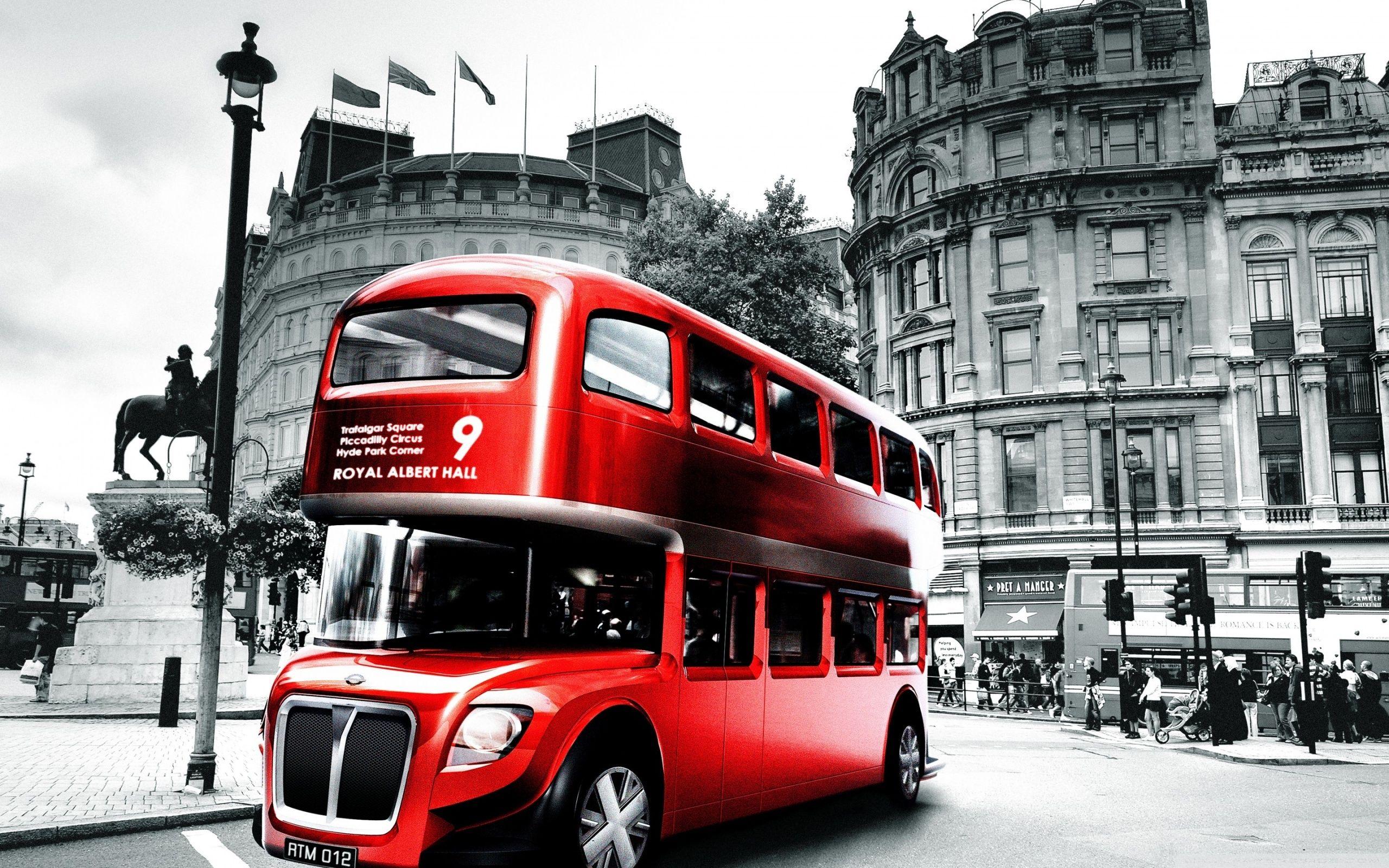 Red London Bus Wallpaper 25601600 High Definition Wallpaper