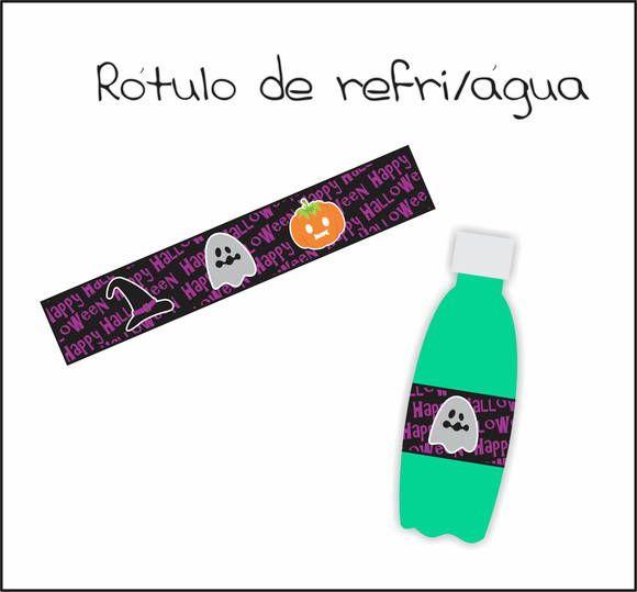 Garrafinha de refrigerante + rótulo personalizado. R$ 3,00