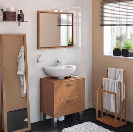 muebles para lavabos con pedestal acacia