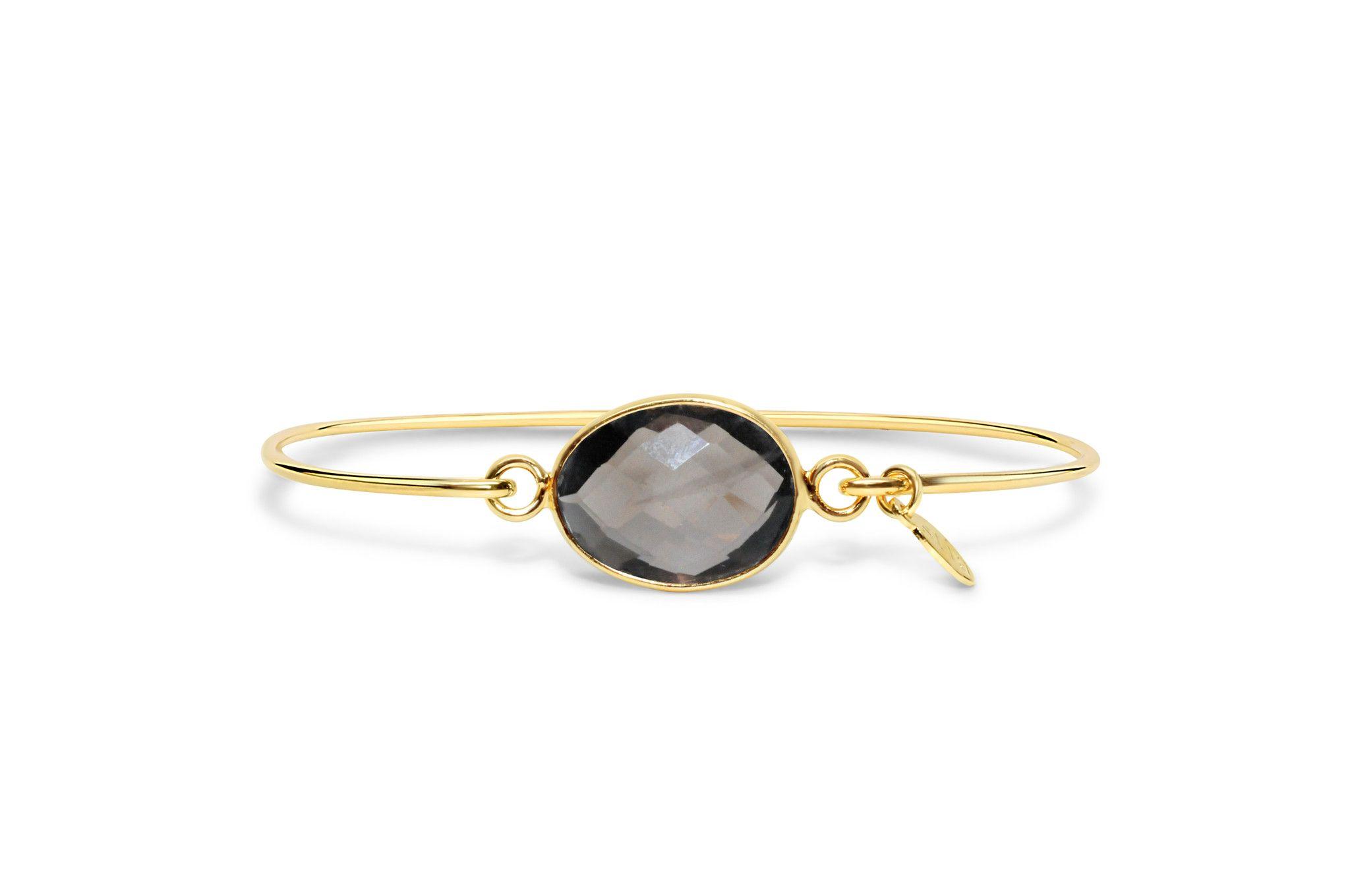 Gold Smoke Quartz Freeform Bracelet