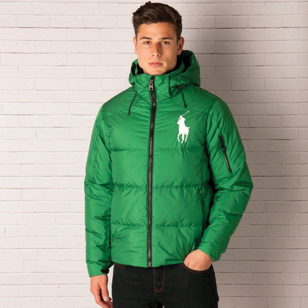 Mens Polo Ralph Lauren Big Pony Down Jacket In Green RC1