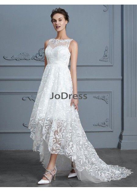 dd9525b6445 Jodress 2019 Beach Short Lace Wedding Dresses T801524714724 ...