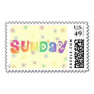 Cute Day Of The Week Sunday Postage Stamp
