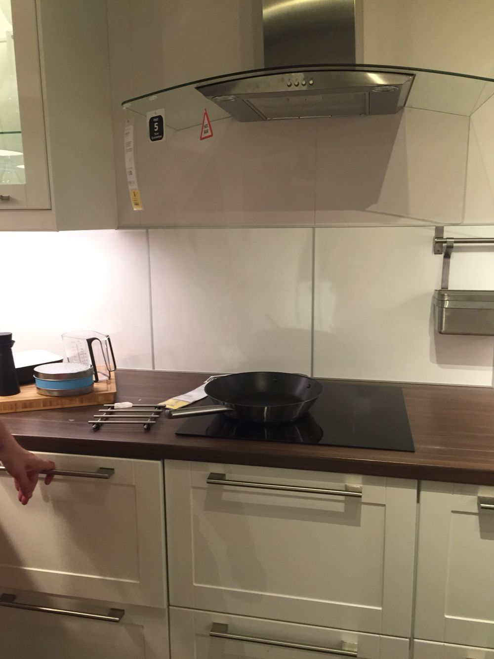 #Ikea #UK #KitchenDesign Cream Cabinets; Dark Wood Worktops; Built In