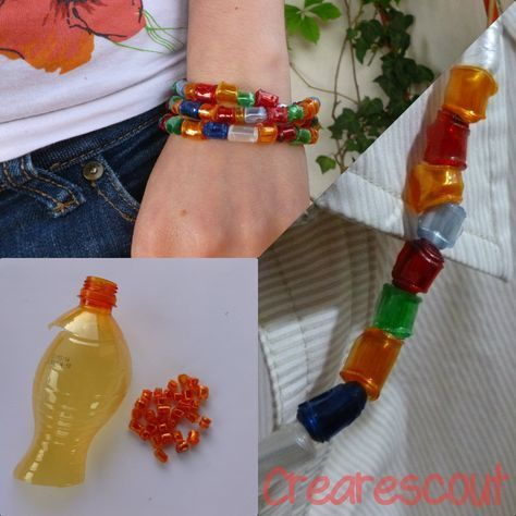Recycled plastic beads #plasticbottleart