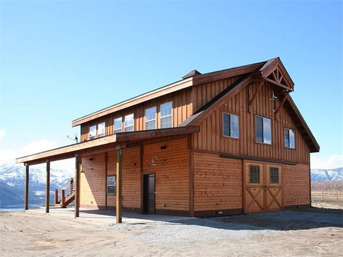Barns With Living Quarters Denali Barn Barn Pros Barn Apartment Barn House Kits Barn With Living Quarters