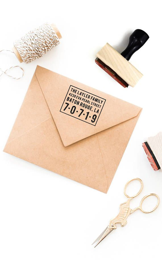 Minimalist Return Address Stamp | Custom Personalized Bold Realtor Wedding Housewarming  Gift | Return Address Rubber Stamp By Creatiate | Find Mou2026