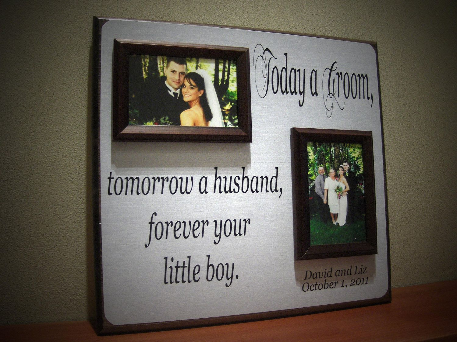 Today a groom wedding photo frame mother by yourpicturestory
