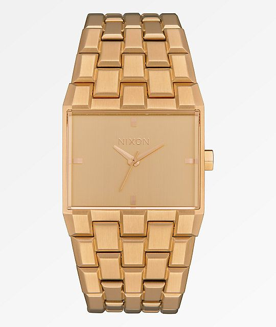 Nixon Steele Tops: Nixon The Ticket All Gold Analog Watch