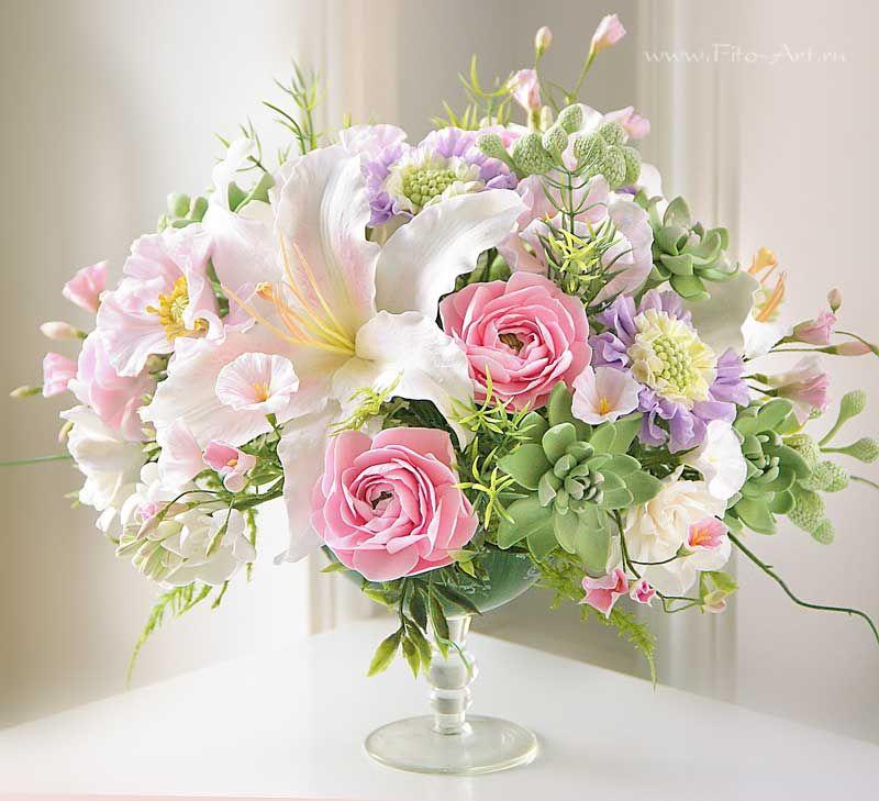 Открытки нежные букеты цветов