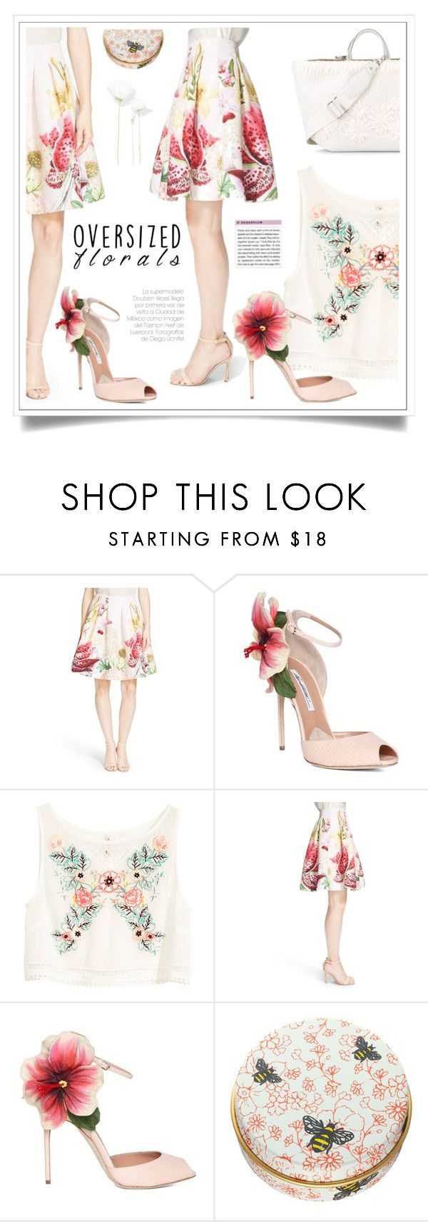 """""""Oversized Florals"""" by ewa-naukowicz-wojcik ❤ liked on Polyvore featuring Ted Baker, Brian Atwood, H&M, Paul & Joe Beaute, Ermanno Scervino and oversizedflorals"""