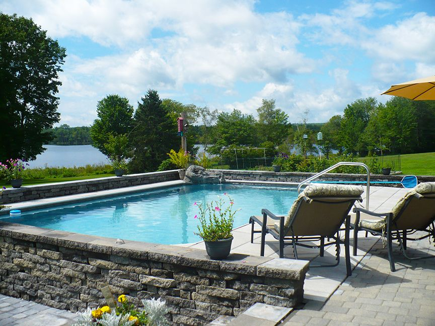 Incredible Keystone Semi Inground Pool Completes This Waterfront Property!