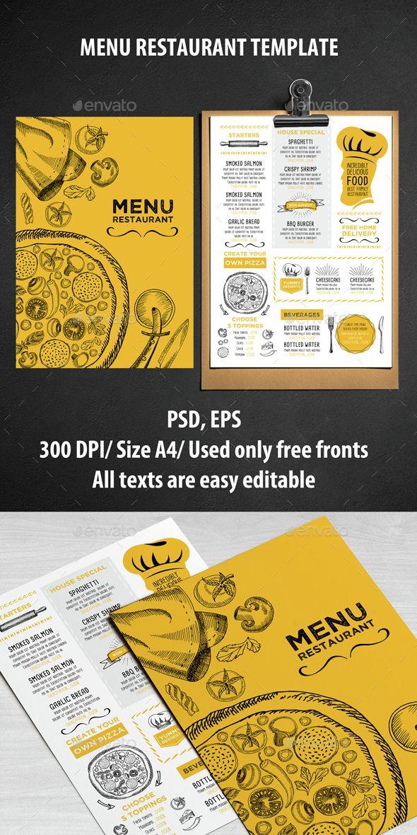 Cafe and Restaurant Template - Food Menus Print Templates - free printable restaurant menu template