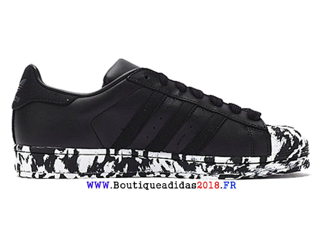 buy popular e3c24 332a6 Adidas Originals Superstar Marbre Pack 80s - Chaussure Homme Femme Noir  AQ4659