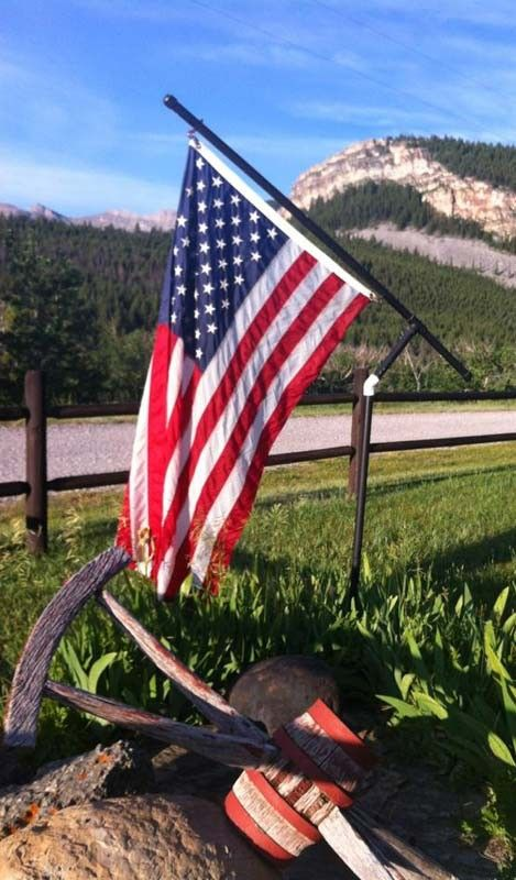 American Flag Flying At The Deep Canyon Ranch In 2020 Montana Ranch Ranch Guest Ranch
