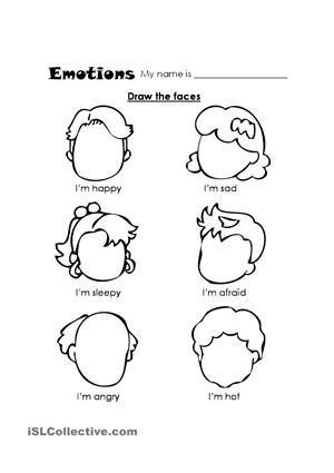 Facial Expressions Worksheets For Kindergarten Google Search Teach Feelings Kindergarten Coloring Pages Preschool Worksheets