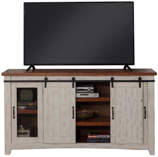 Taos 65 White Tv Stand Art Van Furniture