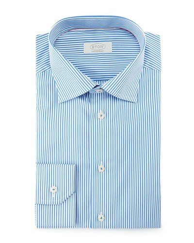 eba027a27 Contemporary-Fit Bengal-Striped Dress Shirt Blue | Products | Shirt ...