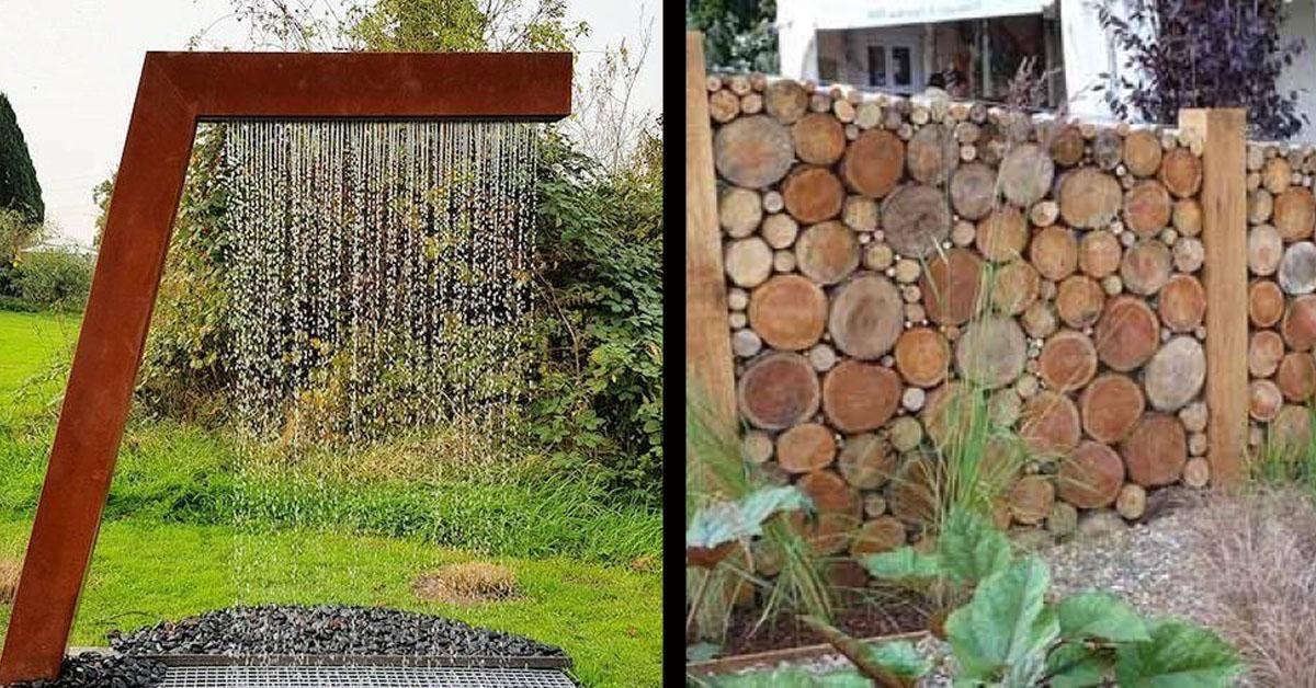 14 Ideen Fur Schallschutz Und Sichtschutz Im Garten Sichtschutz Garten Larmschutz Garten Wasserwand Garten