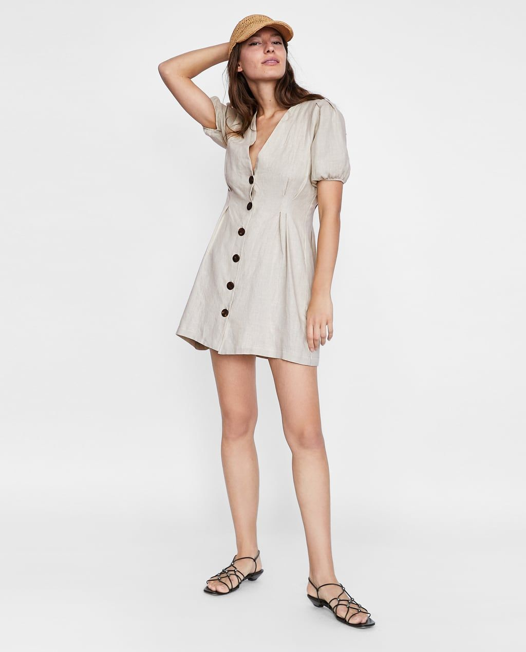 395172b5 Image 1 of BUTTONED LINEN DRESS from Zara | Spring/Summer 18' in ...