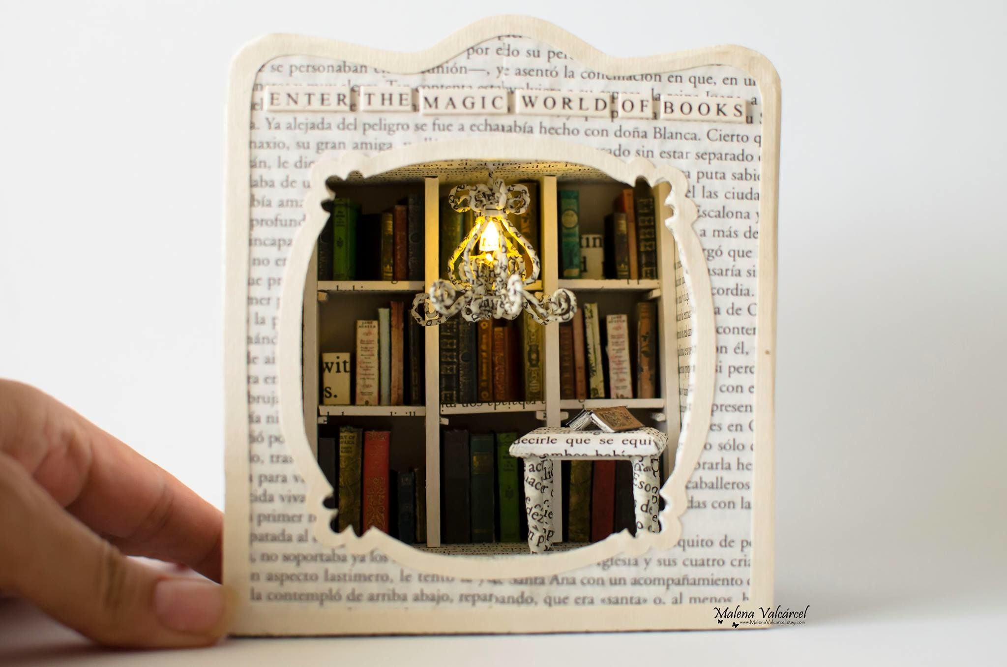 This woman makes incredible art from discarded books.