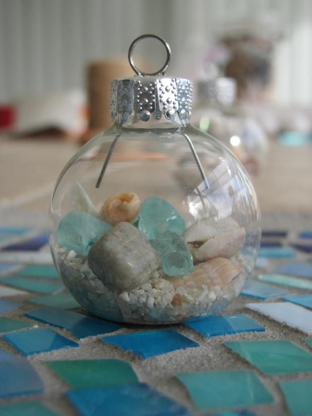 DIY Christmas Tree Ornaments for your beach Christmas tree