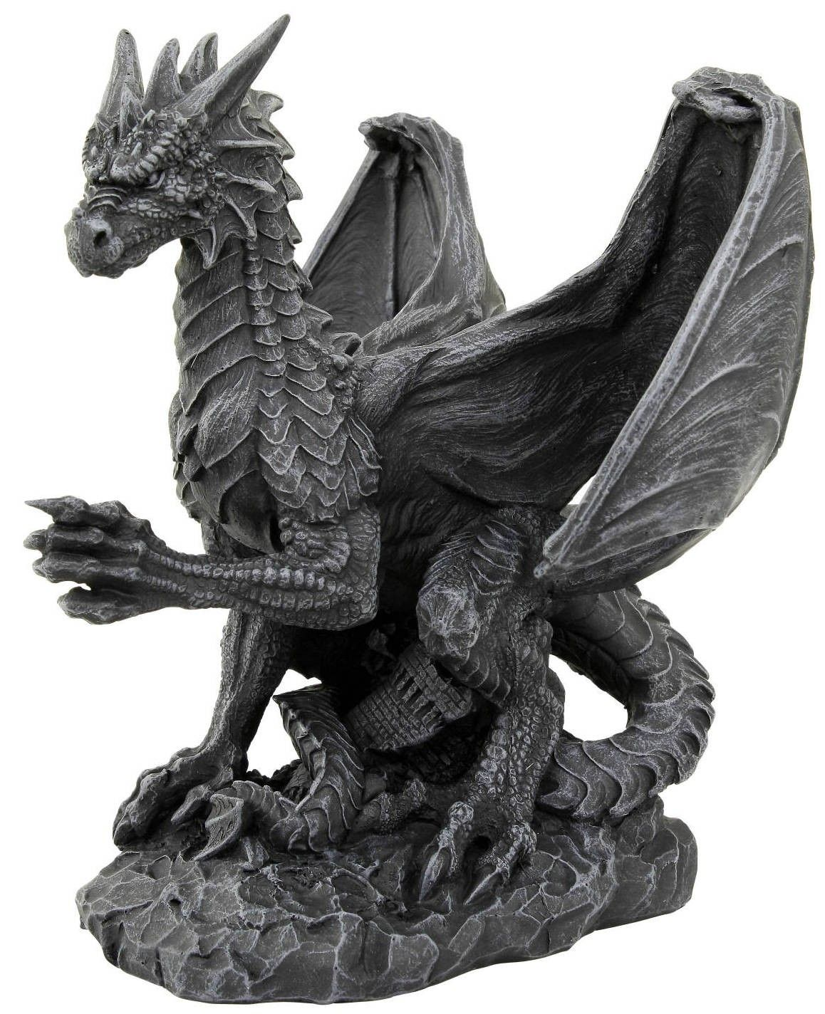 Bien-aimé Dragon en résine noir - Figurine collection | Figurines de dragons  CF02