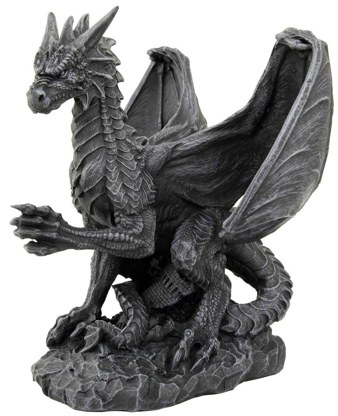 Bien-aimé Dragon en résine noir - Figurine collection | Figurines de dragons  CF02