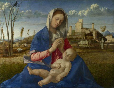 The Madonna of the Meadow {Giovanni Belini, London, Great Britain - 16th century}
