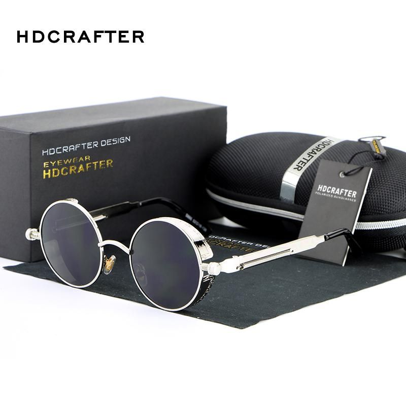 9a7bcf414d2 2018 Vintage Round Metal Steampunk Sunglasses Style  Round Lenses Optical  Attribute  Mirror