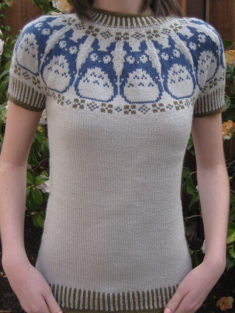 Ravelry Konasfs Totoro Sweater I Need This Wonder Wall