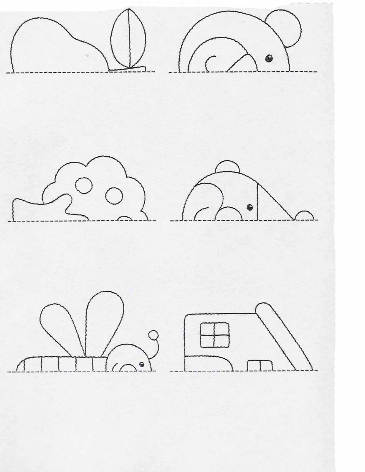 Printable Activities For Kids Complete The Drawings 60