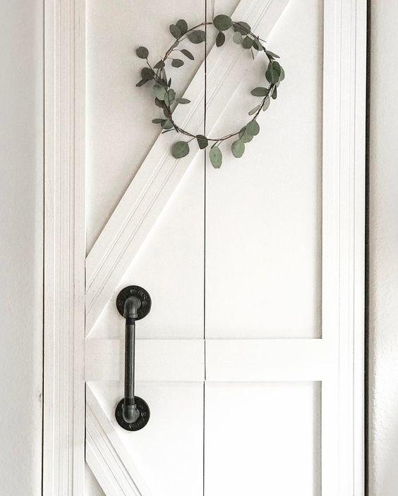 Interior Door Diy Ideas: My Foyer Closet Door From Plain Bifold To Diy Barn