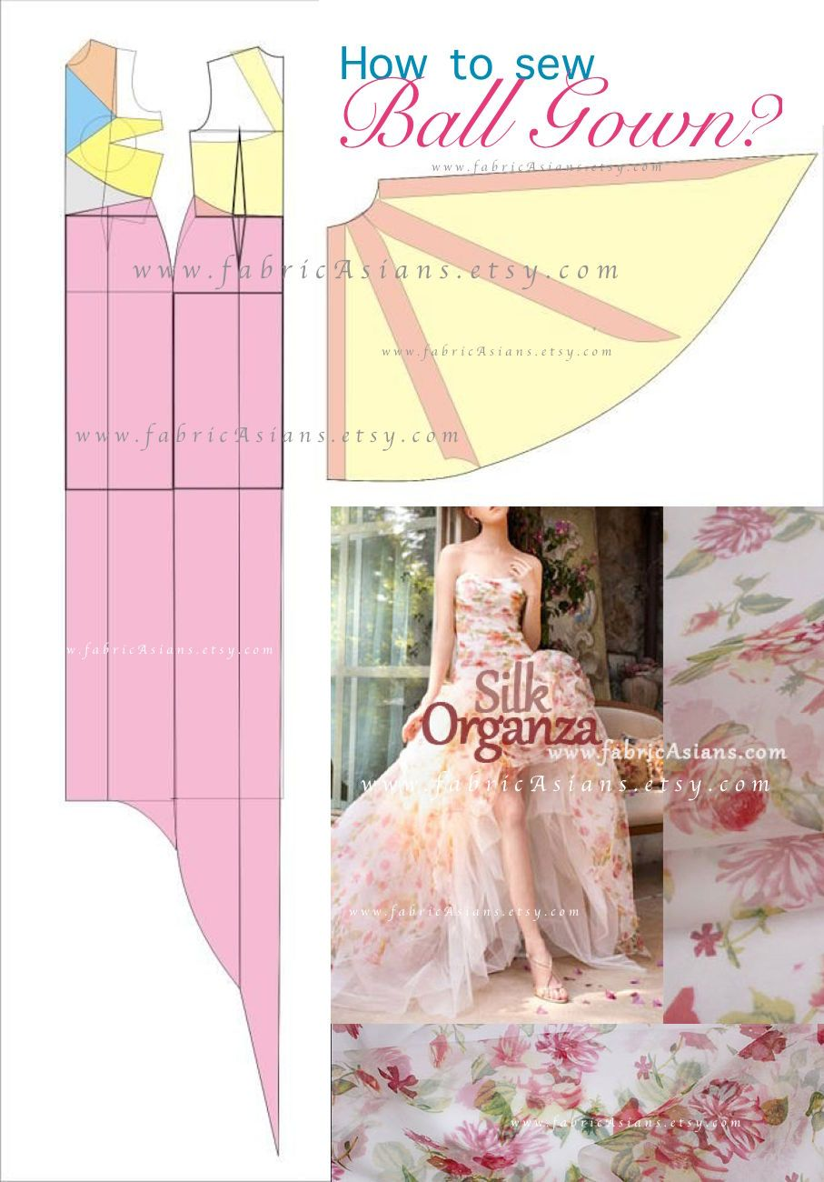 How To Sew Ball Gown Organza Dress Wedding Gown Patterns Prom Dress Pattern Wedding Dress Patterns
